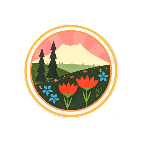 Mount St. Helens Vinyl Sticker-FREE SHIPPING