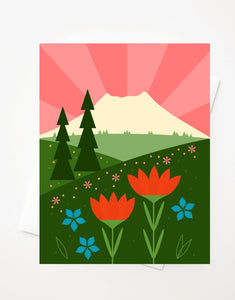 Mount Saint Helens, Blank A2 greeting card with envelope
