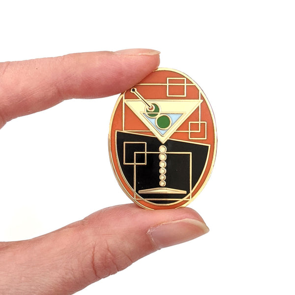 Martini Hard Enamel Pin