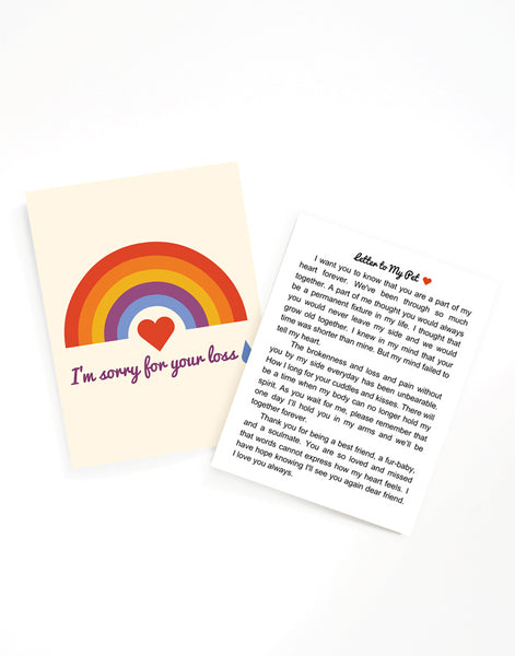 "Pet Loss, A2 greeting card with, ""Letter to my Pet"" insert and envelope by Amber Leaders"