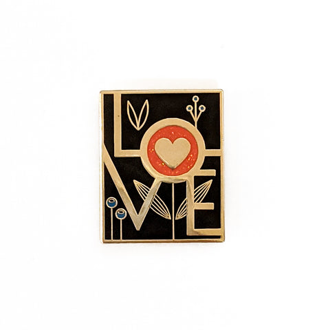 Love Hard Enamel Pin