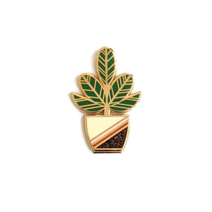 Happy Plant Hard Enamel Pin
