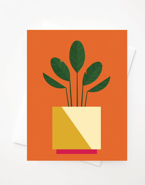 Potted Plant, Blank A2 greeting card with envelope