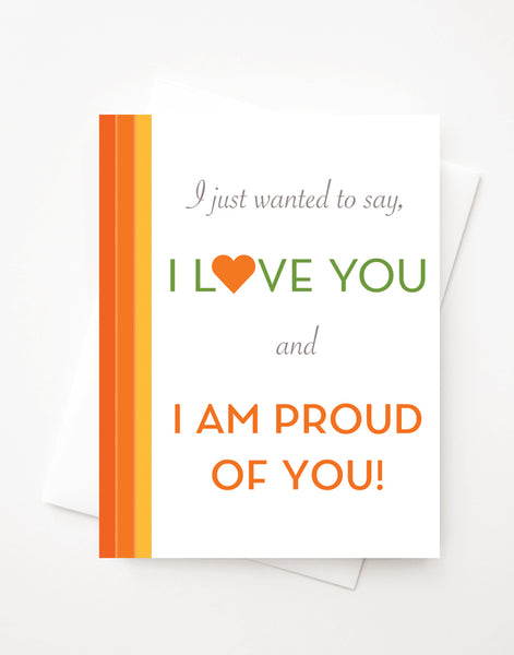 Proud of You, A2 greeting card with envelope