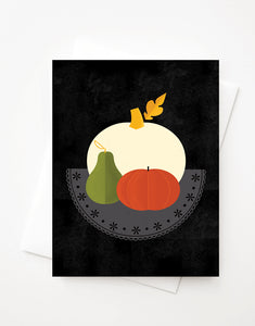 Pumpkin, Blank A2 greeting card with envelope