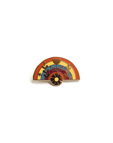 Rainbow Vase Hard Enamel Pin