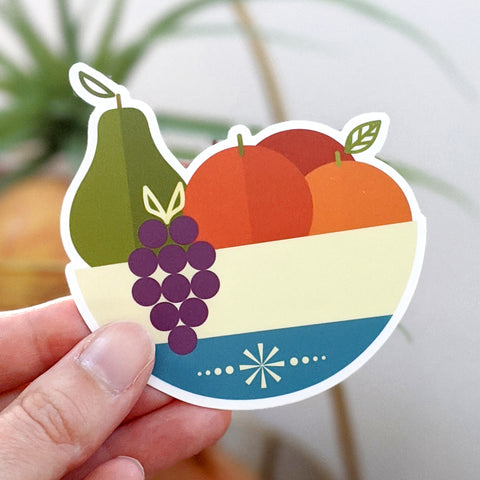 Fruit Bowl Vinyl Sticker-FREE SHIPPING