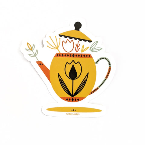 Teapot Vinyl Sticker-FREE SHIPPING
