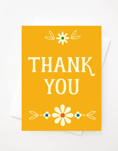 Thank You, Blank A2 greeting card with envelope