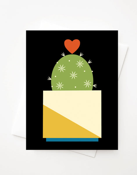Hearty Cactus, Blank A2 greeting card with envelope