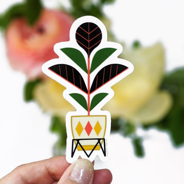 Fiddle Leaf Vinyl Sticker-FREE SHIPPING