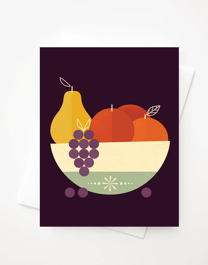 Fruit Bowl, Blank A2 greeting card with envelope