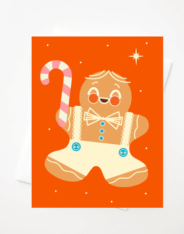 Happy Gingerbread, Blank A2 greeting card with envelope
