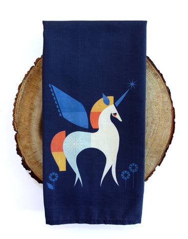 100% Premium Cotton Unicorn Tea Towel