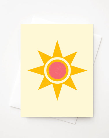 Sunshine, Blank A2 greeting card with envelope