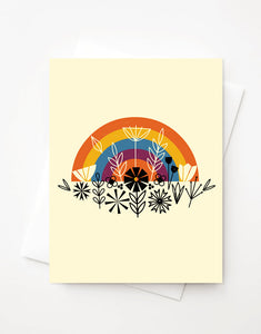 Rainbow, Blank A2 greeting card with envelope