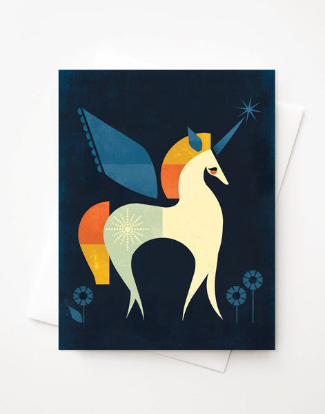 Unicorn A2 greeting card with envelope