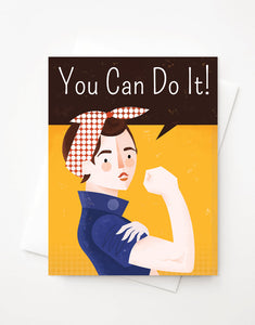 You Can Do It card A2 greeting card with envelope