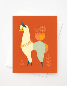 Llama card, A2 greeting card