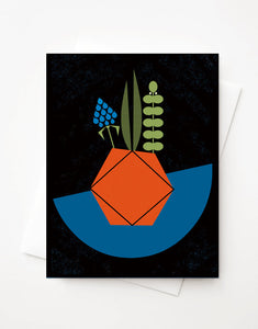 Succulent, Blank A2 greeting card with envelope