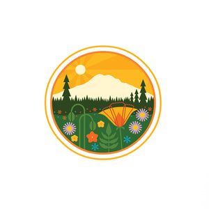 Mount Rainier Vinyl Sticker-FREE SHIPPING