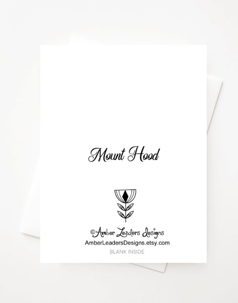 Mount Hood, Blank A2 greeting card with envelope