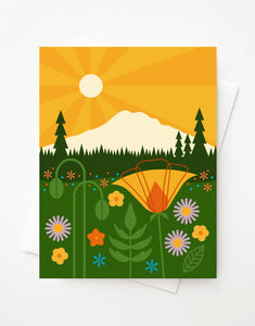 Mount Rainier, Blank A2 greeting card with envelope