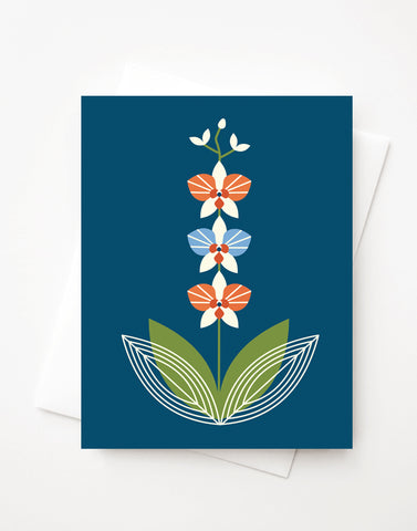 Orchid Blue, A2 greeting card with envelope