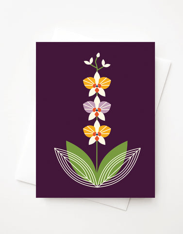 Orchid Purple, A2 greeting card with envelope
