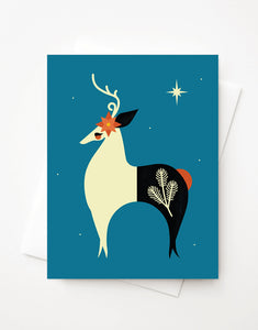 Reindeer, Blank A2 greeting card or Boxed Set Option
