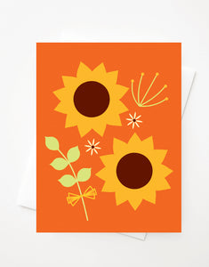 Sunflower, Blank A2 greeting card with envelope