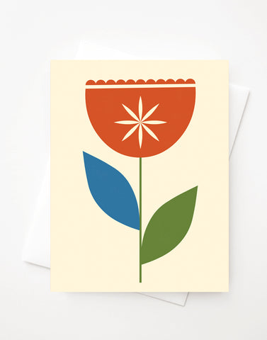 Tulip, Blank A2 greeting card with envelope