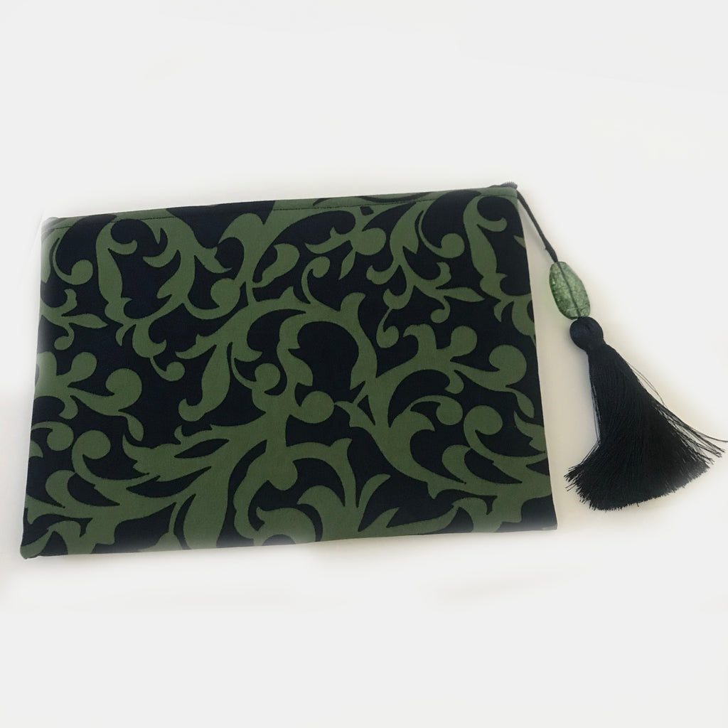 Black & Green Victorian Style Clutch