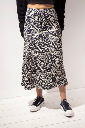 Zebra Stripe Skirt