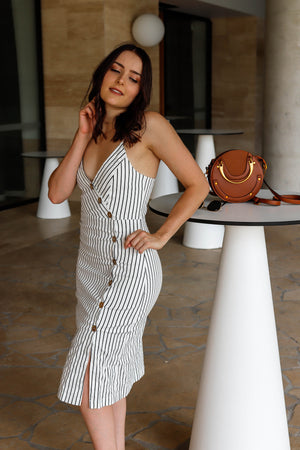 Miranda Pinstripe Dress