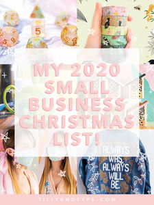 My 2020 Small Business Christmas List