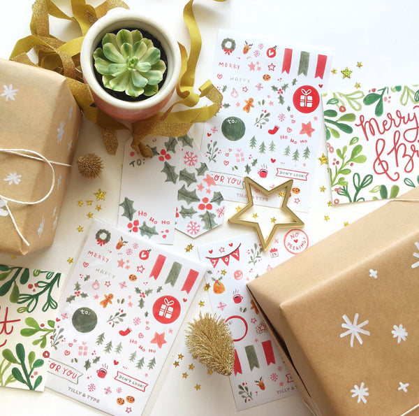 Check our store for more christmas goodies like gift tags, stickers and gift wrap!