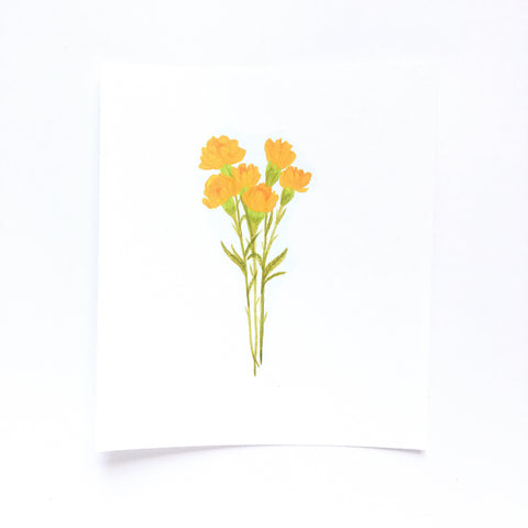 Original Illustration - Yellow Flowers