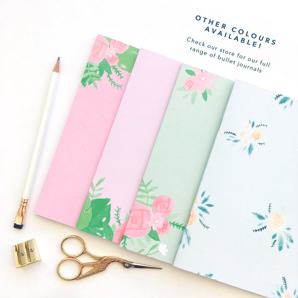 Colourful bullet journal stationery, different colours available
