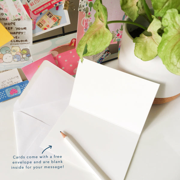 Cards come with a free envelope and are blank inside for your message!