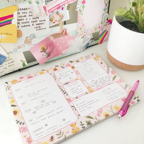 Weekly planner desk pad for organising your life!