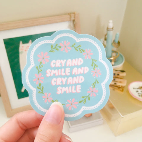 Cry And Smile Sticker