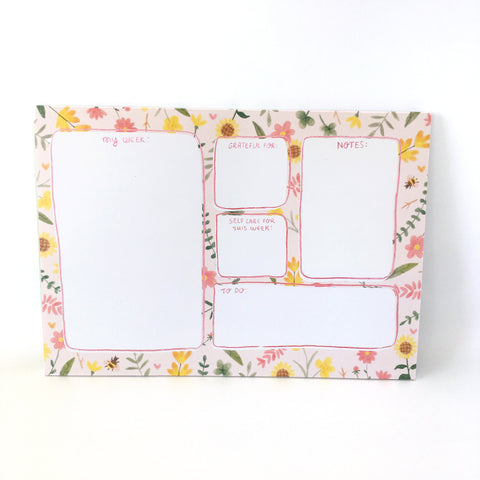 A4 Weekly Planner Pad