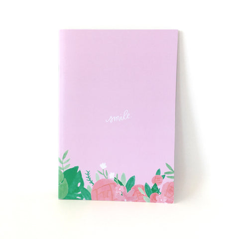 A5 Dot Grid Journal - Light Pink (Smile)
