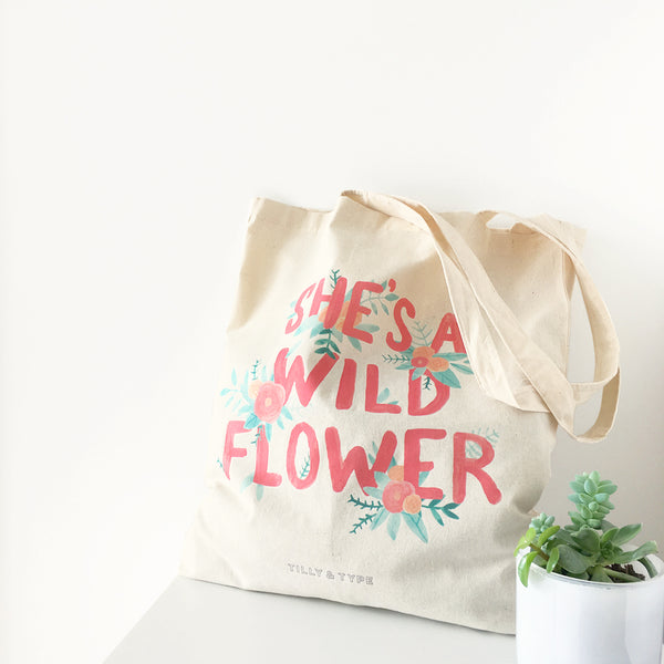 Illustrated Tote Bag