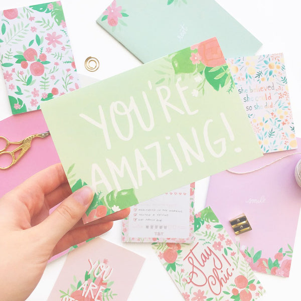 A6 Greeting Card - You're Amazing