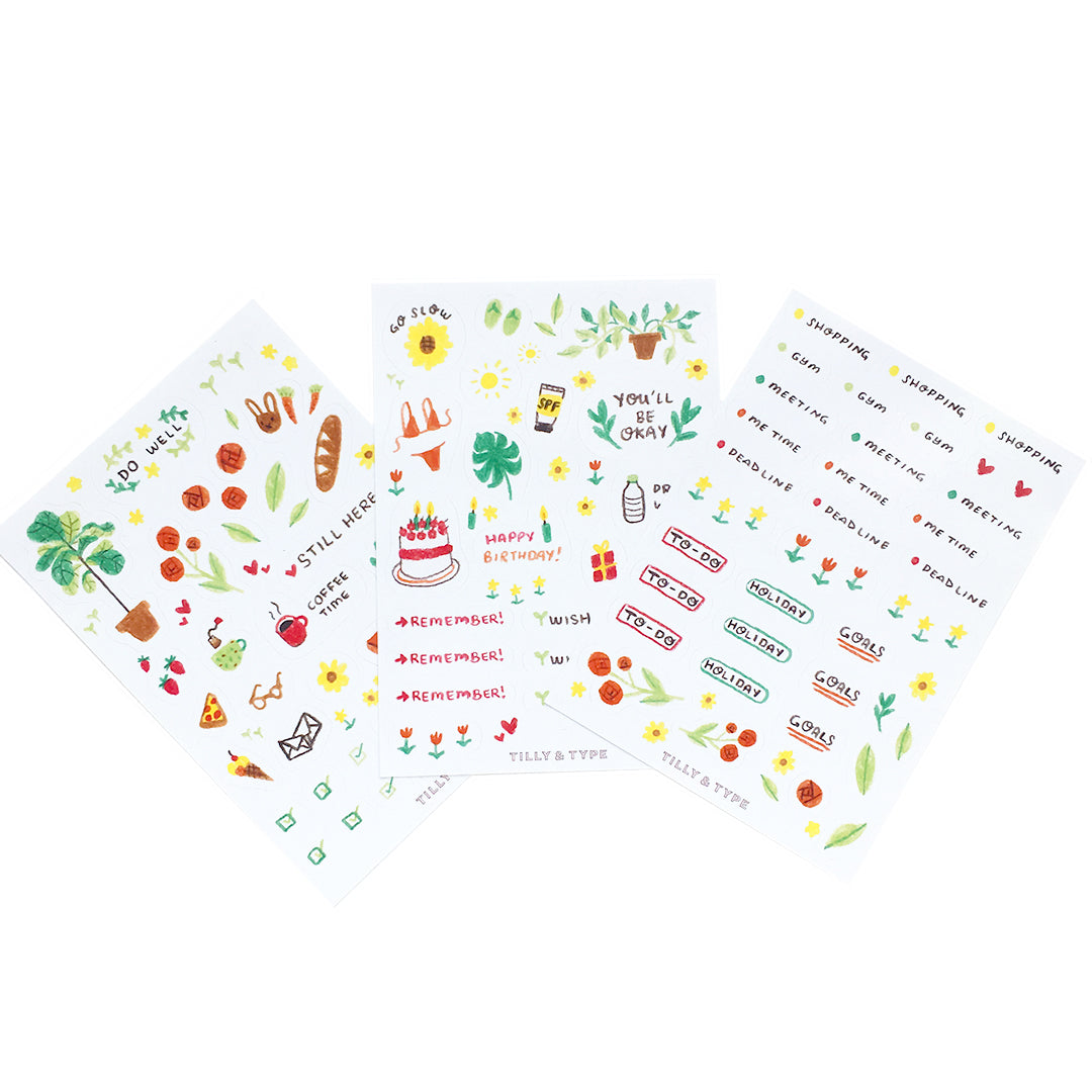 Illustrated Planner Sticker Set