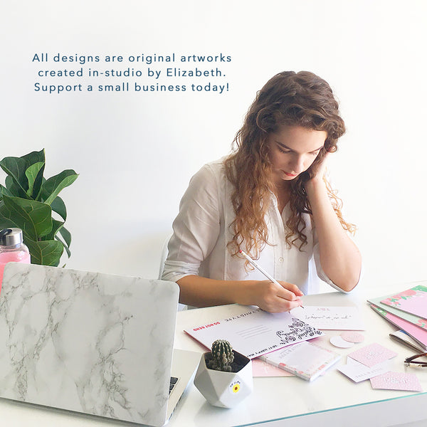 All designs are original artworks created in-studio by Elizabeth. Support a small business today!