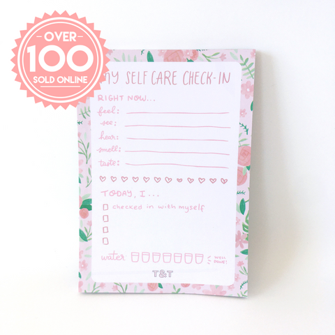 A6 Self-Care Notepad