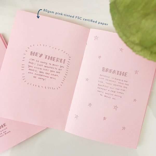 80gsm pink tinted FSC certified paper